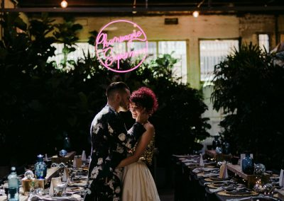Jungle disco wedding at Melbourne's Glasshaus / Tess Follett Photography